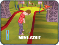 The Mini-golf game in 'Cruise Ship Vacation Games '