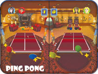 Four person multiplayer in the Ping Pong game from 'Cruise Ship Vacation Games'