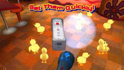 Chick catching mini-game with Wii Remote in 'iCarly' for Wii