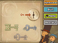 A puzzle example from 'Professor Layton and the Diabolical Box'