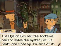 Dialog between Layton and Luke concerning the Elysian Box from 'Professor Layton and the Diabolical Box'