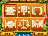 Tile layout selection in 'Mahjong: Journey Quest for Tikal'