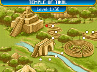 Level 1, Temple of Tikal in 'Mahjong: Journey Quest for Tikal'