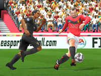 Wayne Rooney in action in FIFA Soccer 10