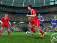 2-on-2 online and offline play in FIFA Soccer 10 for Wii