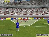 Taking a penalty kick in FIFA Soccer 10