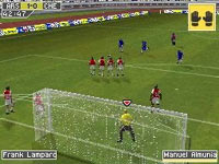 Playing as goalie facing a penalty kick in FIFA Soccer 10