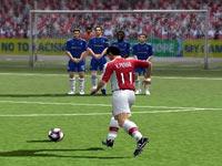A penalty kick in FIFA Soccer 10