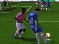 Trying to shake a defender at the right corner in FIFA Soccer 10