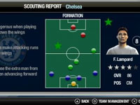 Pre-match scouting report in FIFA Soccer 10