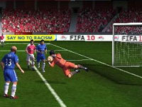 A goalkeeper save in FIFA Soccer 10