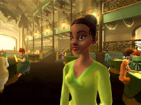 Platform through New Orleans with Tiana in The Princess and the Frog for Wii