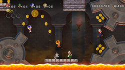 Classic looking Super Mario Bros. underground level in 'New Super Mario Bros. Wii'