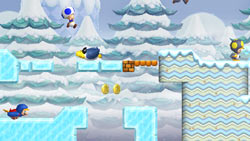 The Penguin Suit power-up in action in 'New Super Mario Bros. Wii'