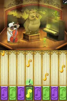via the game's jukebox in The Princess and the Frog for DS/DSi