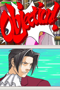 Miles Edgeworth objecting for old-time sake in Ace Attorney Investigations: Miles Edgeworth