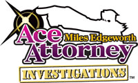 Ace Attorney Investigations: Miles Edgeworth game logo