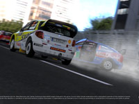 Two cars spinning out and taking damage in Gran Turismo 5