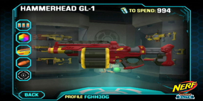 One of 16 available in-game NERF weapons available in NERF: N-Strike
