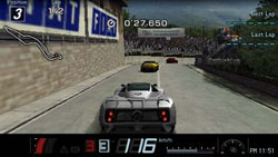 Race in progress in Gran Turismo for PSP