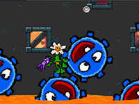 Platforming action in the form of a flower in Drawn to Life: The Next Chapter