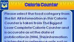 Calorie counter from The Biggest Loser for DS / DSi