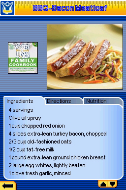 Biggest Loser Cookbook recipe from The Biggest Loser for DS / DSi