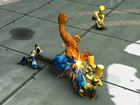 Wolverine and Thing in coop action in Marvel Super Hero Squad