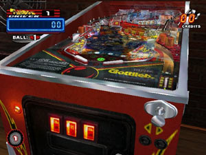 A classic pinball game carrying the Gottlieb logo in Pinball Hall of Fame: The Gottlieb Collection