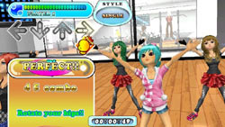 In-game Workout Mode screen from DanceDanceRevolution Hottest Party 3 Bundle