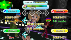 In-game multiplayer screen from DanceDanceRevolution Hottest Party 3 Bundle