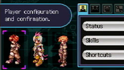 Customization screen from Ragnarok DS
