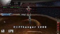 A stunt above the handlebars in MX vs. ATV: Reflex