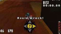 Wreck avoidance functionality in MX vs. ATV: Reflex