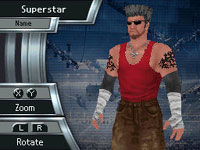 Superstar customization functionality WWE Smackdown vs Raw 2010 for DS and DSi