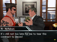Negotiating a deal with Vice McMahon in Season Mode in WWE Smackdown vs Raw 2010 for DS and DSi
