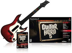 Game bundled with improved guitar controller in 'Guitar Hero 5'