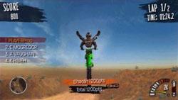 A stunt above the handlebars in MX vs. ATV: Reflex