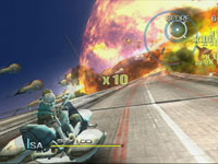 Vehicular combat in Sin & Punishment: Star Successor