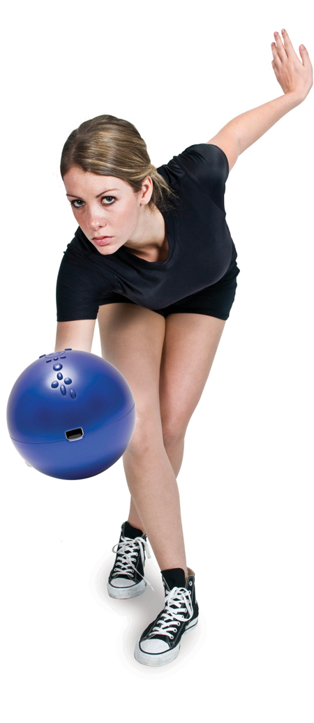 realistic Bowling Ball for Wii remote controlled Bowling Games. View