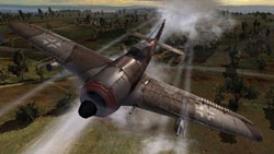 A German fighter in attack mode in 'Order of War'