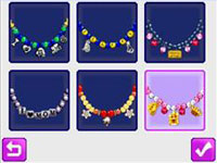 Simple to use necklace design template in Style Lab: Jewelry Design