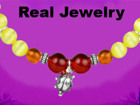 Comparison between jewelry designed in-game and the quality of the real purchasable version in Style Lab: Jewelry Design