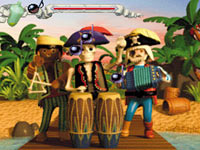 Pirate song mini-game using the DS or DSi microphone in Playmobil: Pirates