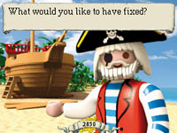 A visit to Herman the Shipwright to ger repairs done to items in Playmobil: Pirates
