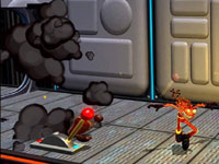 Puzzle-solving activities in Splosion Man