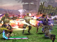 A close-up weapon based attack from Samurai Warriors 3