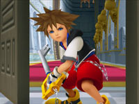 Sora and his Key Blade from Kingdom Hearts Re:coded