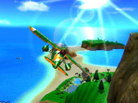 Plane flying screen from Pilotwings Resort