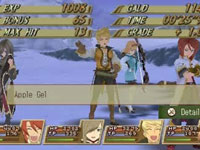 Character stats from Tales of the Abyss for 3DS